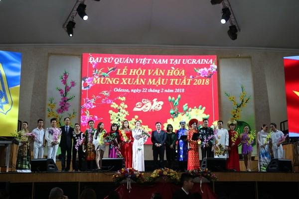Lễ hội mừng Xuân mở đầu Năm Văn hóa Việt Nam tại Ukraine