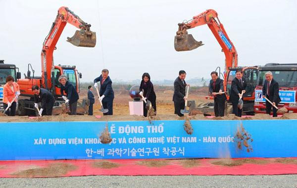 Động thổ xây dựng Viện Khoa học và Công nghệ Việt Nam-Hàn Quốc