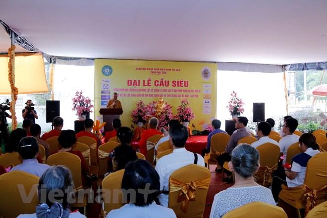 Kiều bào tại Lào tổ chức Đại lễ cầu siêu cho các anh hùng liệt sỹ