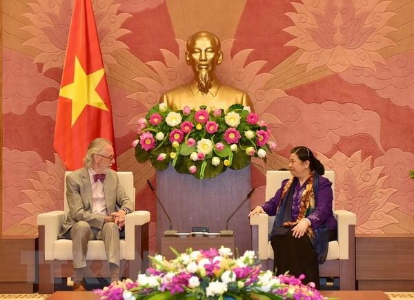 Phó Chủ tịch Quốc hội Tòng Thị Phóng tiếp nguyên Tổng Thư ký IPU