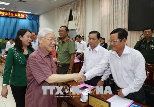 Tổng Bí thư Nguyễn Phú Trọng thăm, làm việc tại tỉnh An Giang