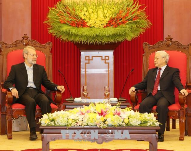 Tổng Bí thư tiếp Chủ tịch Quốc hội Cộng hòa Hồi giáo Iran