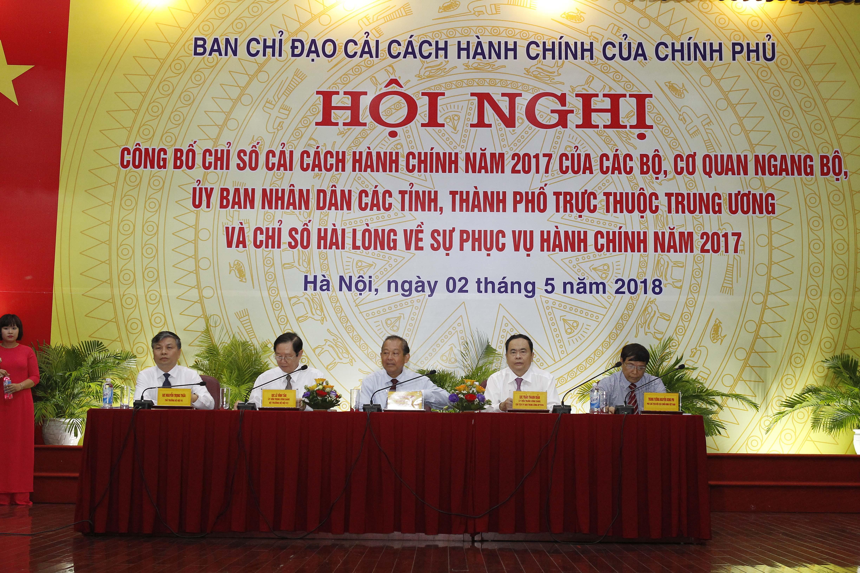 Chỉ số CCHC năm 2017: Ngân hàng Nhà nước và tỉnh Quảng Ninh dẫn đầu