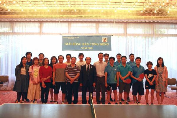 Giải bóng bàn dành cho bà con người Việt tại Kansai, Nhật Bản