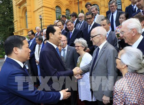 """Chủ tịch nước gặp mặt các nhà khoa học dự Hội thảo """"Khoa học để phát triển"""""""