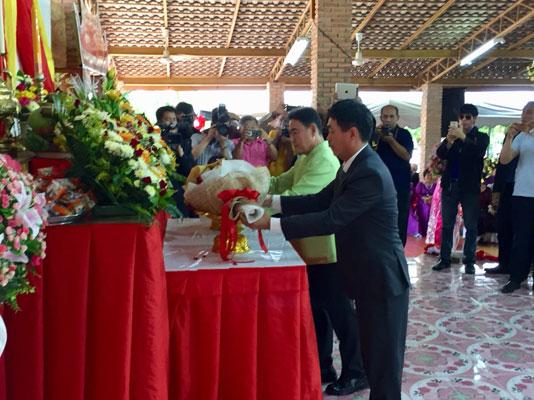 Lễ kỷ niệm 128 năm ngày sinh Chủ tịch Hồ Chí Minh tại Nakhon Phanom, Thái Lan