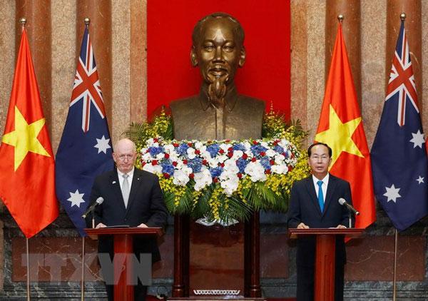 Chủ tịch nước Trần Đại Quang và Toàn quyền Australia gặp gỡ báo chí