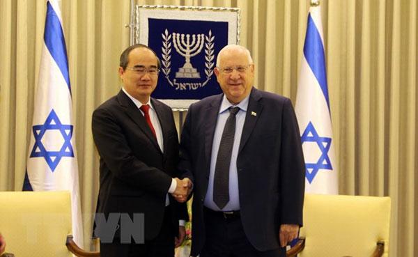 Bí thư Thành ủy TP.HCM Nguyễn Thiện Nhân hội kiến Tổng thống Israel