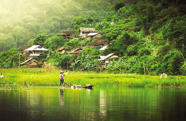 Pác Ngòi - bản làng xinh đẹp bên hồ Ba Bể