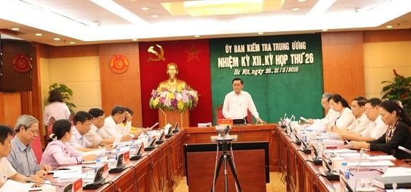 Ủy ban Kiểm tra Trung ương kết luận về một số vụ việc nghiêm trọng