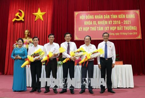 Kiện toàn nhân sự Hà Nội, Kiên Giang