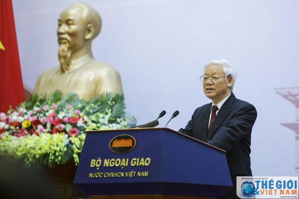 Toàn văn phát biểu của Tổng Bí thư Nguyễn Phú Trọng tại Hội nghị Ngoại giao 30