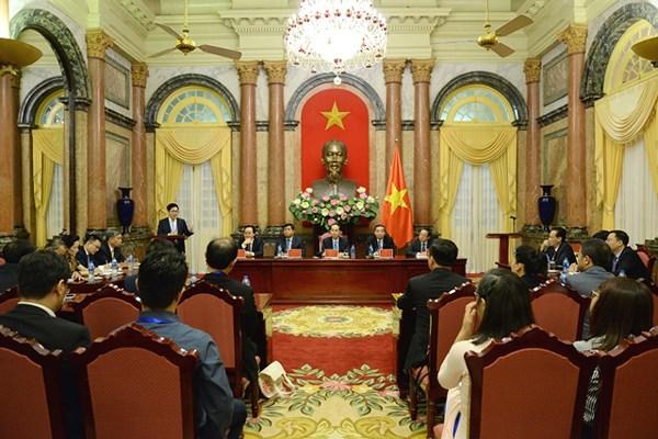 Chủ tịch nước gặp đoàn người Việt tài năng về khoa học và công nghệ