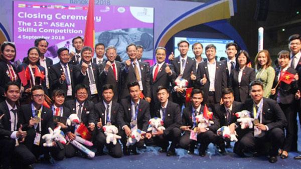 Việt Nam giành bảy huy chương vàng thi nghề ASEAN