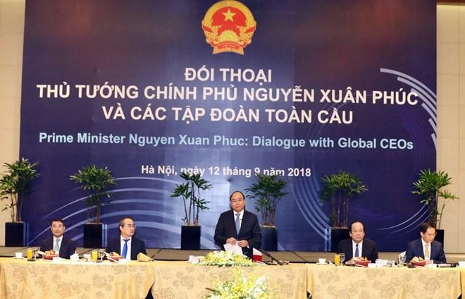 Thủ tướng Nguyễn Xuân Phúc đối thoại với các tập đoàn toàn cầu