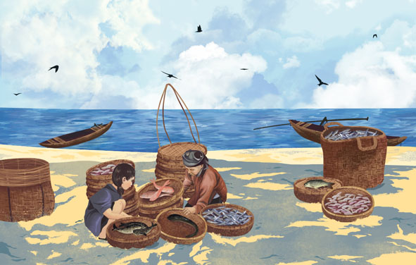 Thân thương chợ cá...