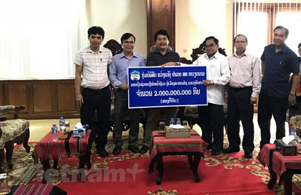 Doanh nghiệp Việt Nam tiếp tục hỗ trợ người dân Lào sau sự cố vỡ đập