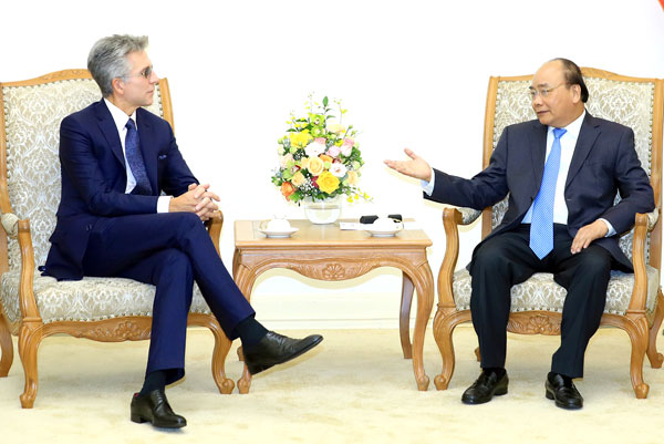 Thủ tướng Nguyễn Xuân Phúc tiếp lãnh đạo Tập đoàn phần mềm của Đức