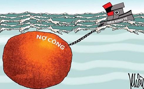 """Gánh nặng nợ công """"đè"""" tăng trưởng kinh tế"""