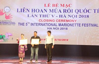Bế mạc Liên hoan Múa rối quốc tế lần thứ V tại Hà Nội