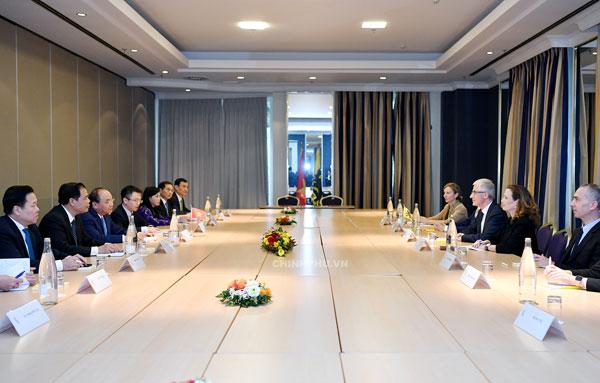 Thủ tướng tiếp một số Bộ trưởng-Chủ tịch vùng của Bỉ