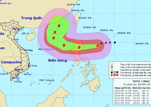 Siêu bão Yutu gây gió giật cấp 17 áp sát Biển Đông