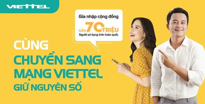 Viettel sẽ phục vụ tận nhà khi người dùng muốn chuyển mạng giữ số