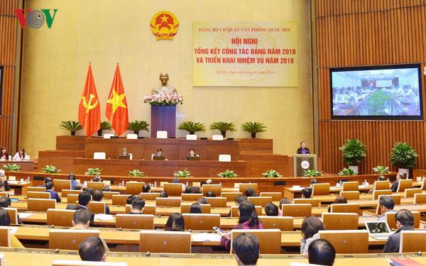 Đảng bộ cơ quan Văn phòng Quốc hội tổng kết công tác năm 2018