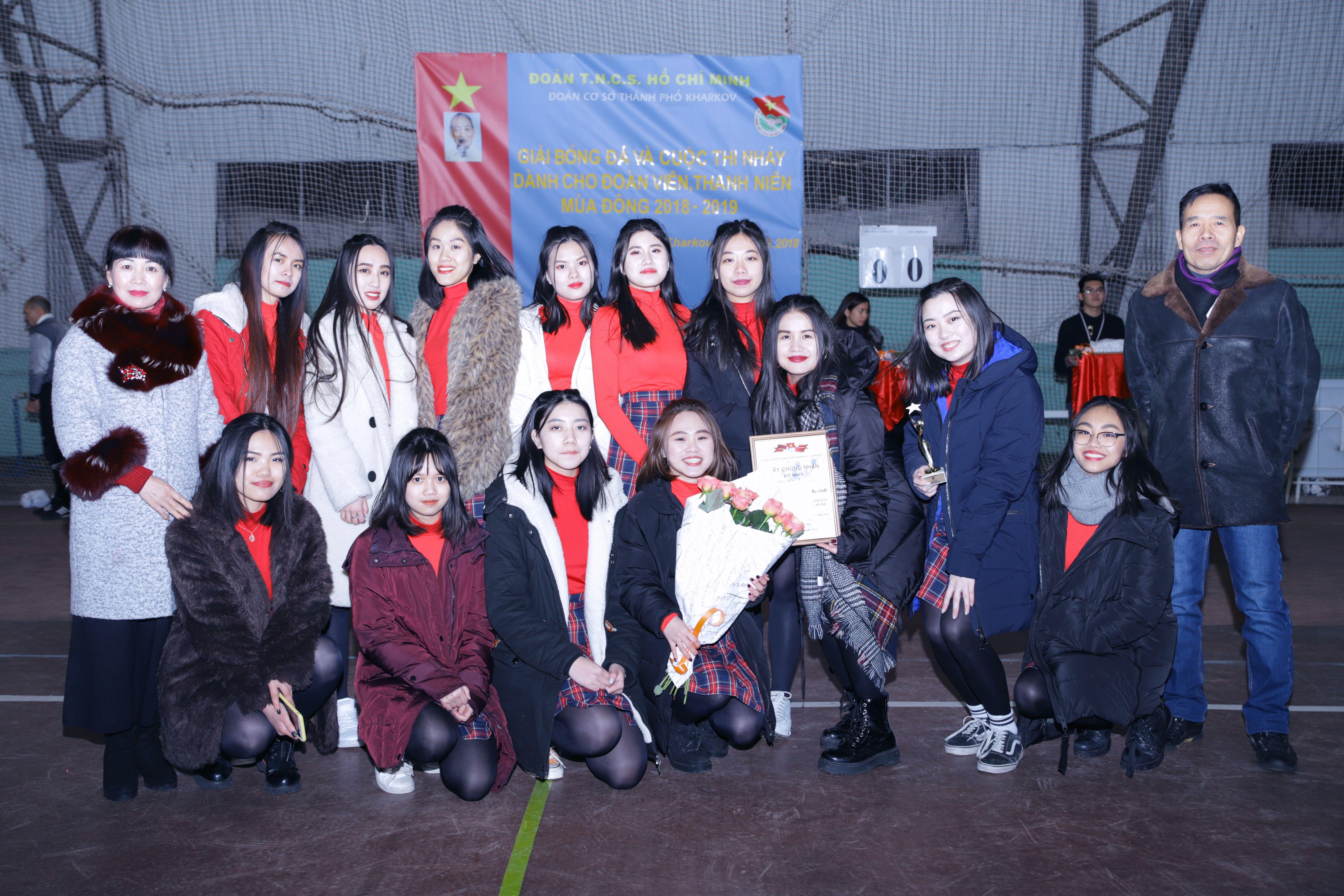 Bế mạc giải bóng đá và cuộc thi nhảy dành cho đoàn viên-thanh niên Việt Nam thành phố Kharkov - Ucraina mùa đông 2018-2019