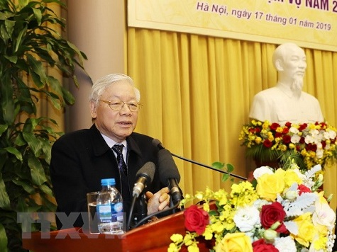 Tổng Bí thư, Chủ tịch nước dự Hội nghị tổng kết năm 2018 của Văn phòng Chủ tịch nước