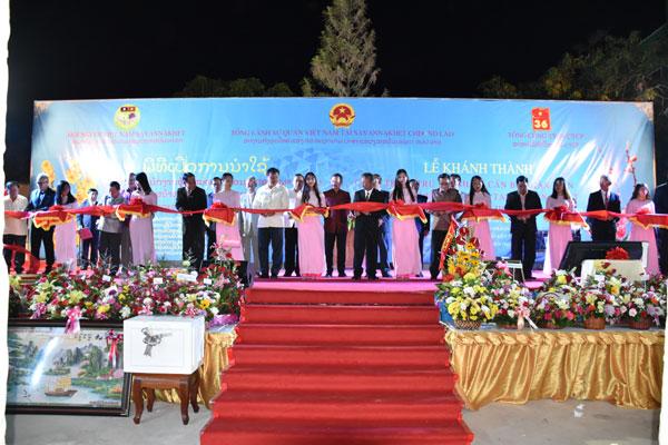 Lễ Khánh thành trụ sở cơ quan đại diện Việt Nam tại Lào và mừng Xuân mới