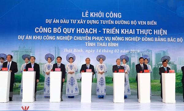 Thủ tướng dự khởi công một số dự án kinh tế trọng điểm ở Thái Bình