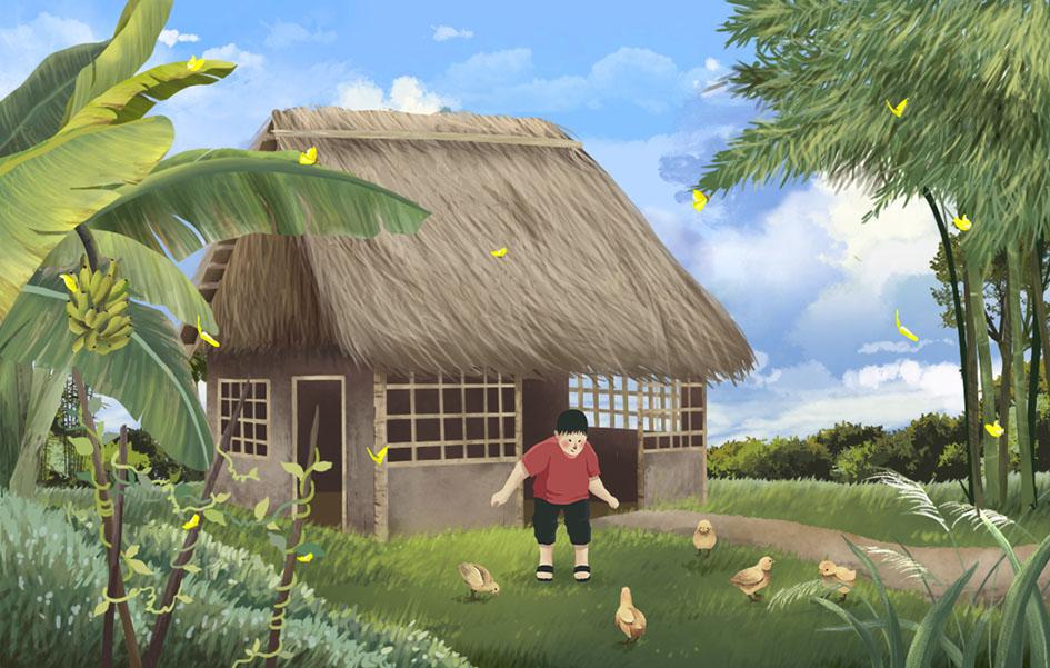 Về mái nhà xưa, hàng hiên cũ