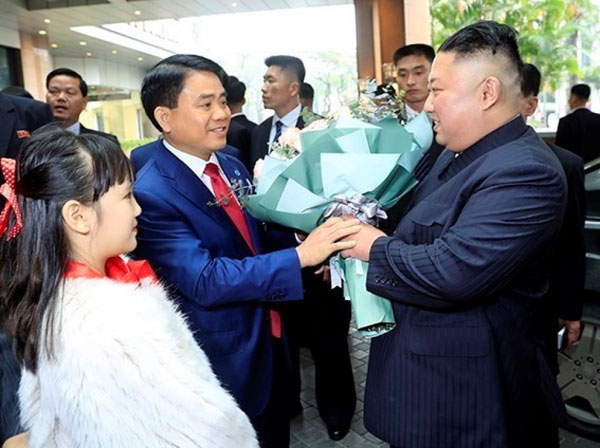 Chủ tịch Triều Tiên Kim Jong-un đã tới Hà Nội