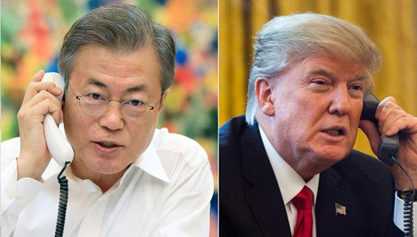 Tổng thống Mỹ điện đàm với lãnh đạo Nhật Bản và Hàn Quốc