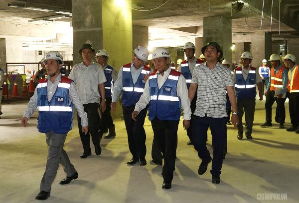 Thủ tướng thị sát dự án tuyến metro đầu tiên của TPHCM