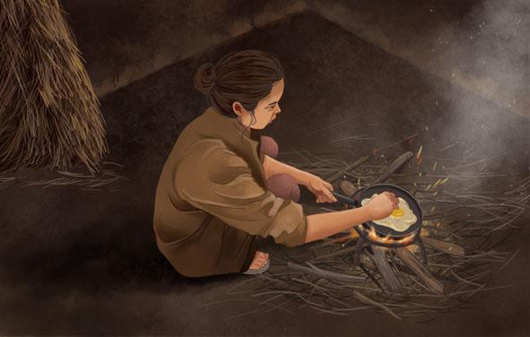 Khói bếp tuổi thơ