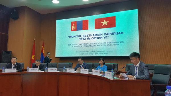 """Hội thảo """"Quan hệ Mông Cổ - Việt Nam: Lịch sử và hiện tại"""""""