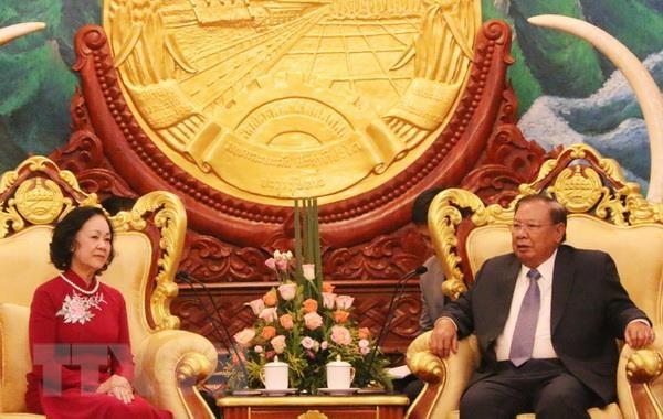 Lãnh đạo Lào khẳng định sẽ cùng Việt Nam giữ gìn quan hệ đặc biệt