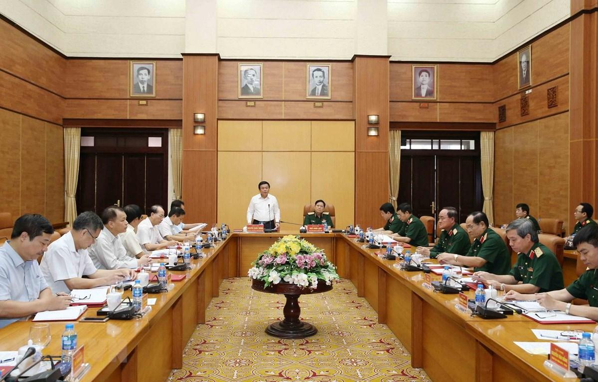Đoàn Tiểu ban Văn kiện Đại hội XIII làm việc với Quân ủy Trung ương