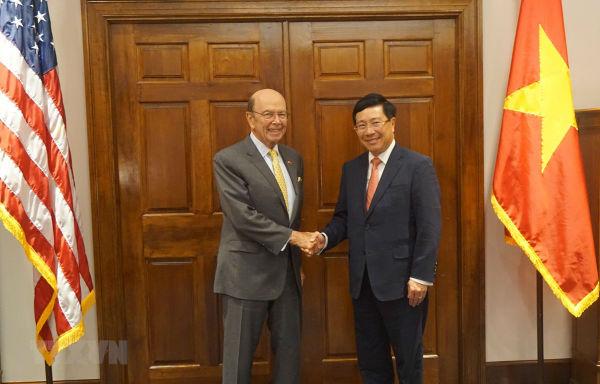 Việt Nam-Hoa Kỳ thúc đẩy hợp tác kinh tế-thương mại-đầu tư-quốc phòng