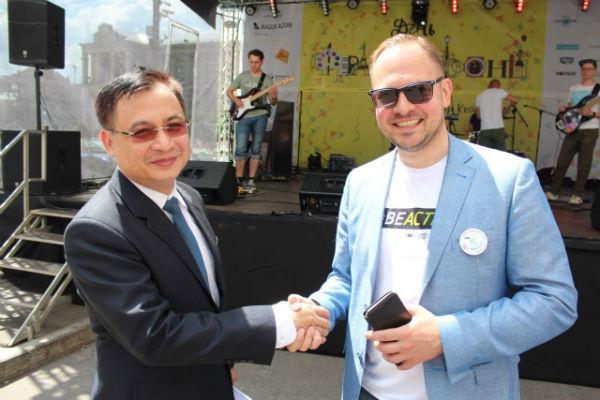 """Đại sứ quán Việt Nam tại Ukraine tham gia hoạt động """"Ngày Pháp ngữ 2019"""""""