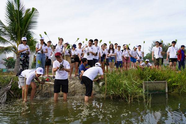 Thanh thiếu niên kiều bào trồng cây bảo vệ môi sinh tại Hội An