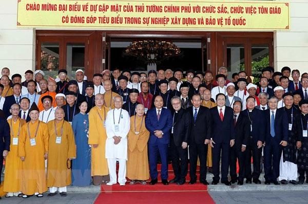 Thủ tướng: Lợi ích của từng tôn giáo gắn liền với lợi ích quốc gia