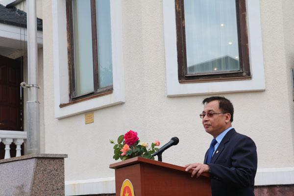 Đại sứ quán Việt Nam tại Ucraina tổ chức Lễ thượng cờ ASEAN
