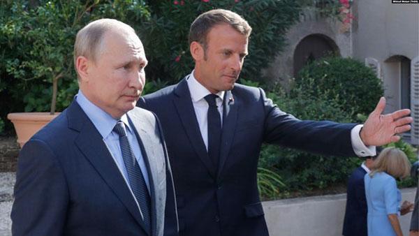 Lãnh đạo Pháp, Nga thảo luận các cuộc khủng hoảng trên thế giới