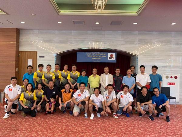 Tổng Lãnh sự quán VN tại Osaka tổ chức giải giao lưu bóng bàn mở rộng 2019