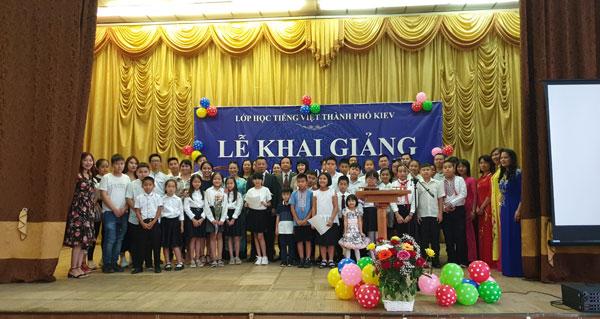 Lễ Khai giảng Lớp tiếng Việt Kiev năm học 2019-2020