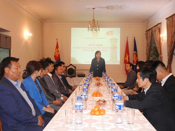 Kỷ niệm 65 năm ngày giải phóng Thủ đô tại Mông Cổ