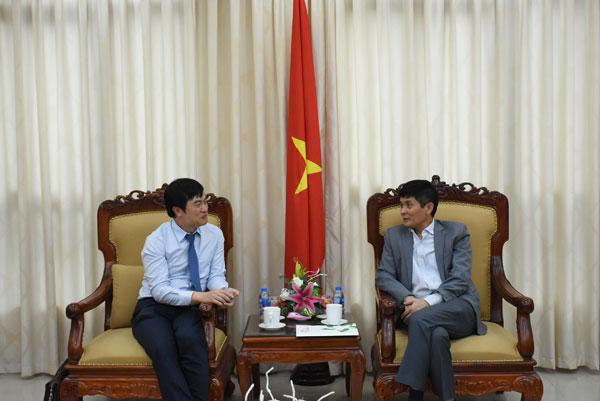 Lãnh đạo Ủy ban tiếp đại diện Quỹ Khởinghiệp Doanh nghiệp Khoa học và Công nghệ Việt Nam